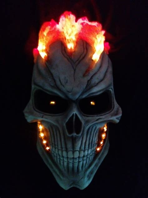 ghost rider cosplay mask marvel agents   hero props