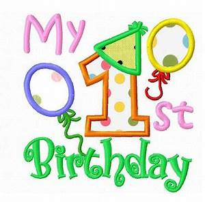My first birthday applique machine embroidery design