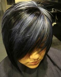 Short Black Hair With Highlight. Like the black and blonde ...