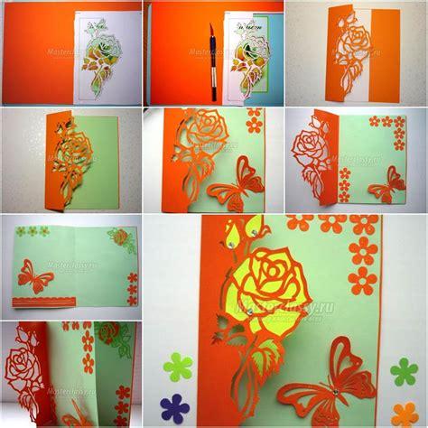 creative ideas diy pretty kirigami butterfly postcard