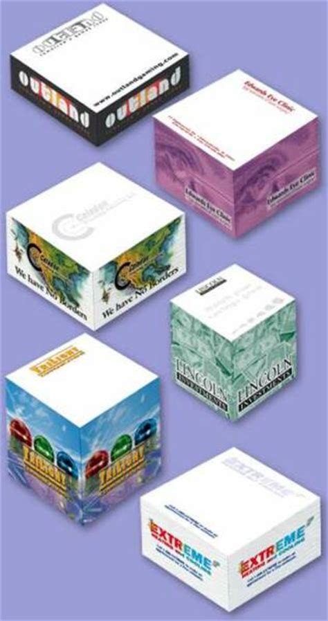 custom sticky paper cubes post  cube notepads