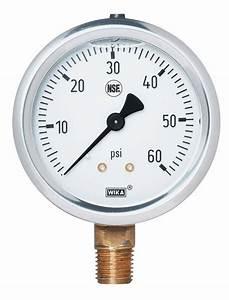 Nsf Certified Pressure Gauge 0 To 100 Psi Bottom Mount 1 4