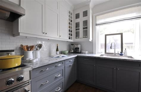 grey and white cabinets white upper cabinets dark lower cabinets contemporary