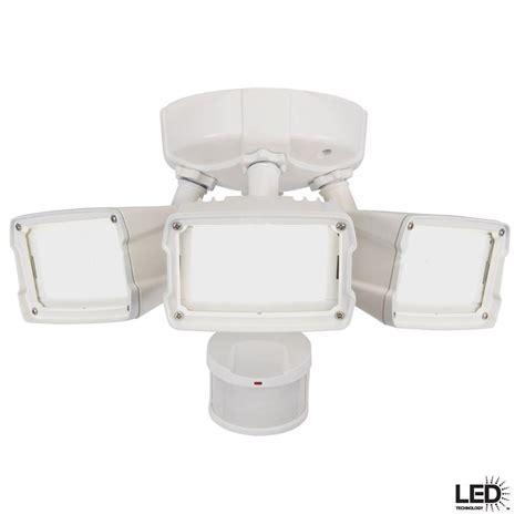 exterior flood lights motion sensor defiant 270 degree motion outdoor activated white led