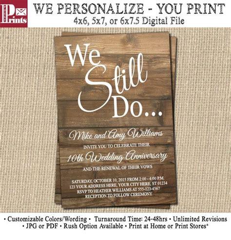 vow renewal invitation wedding anniversary invitations
