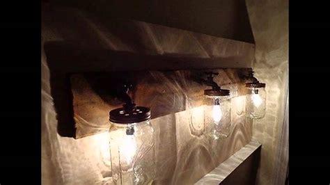 creative rustic bathroom lighting youtube