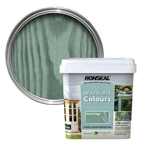 ronseal woodland colours wood sage matt wood stain