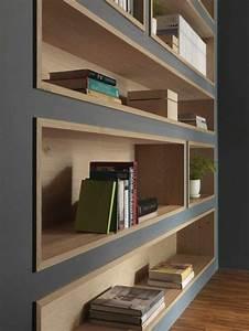 Bibliothèque Murale Bois : 1001 id es comment d corer vos int rieurs avec une niche ~ Premium-room.com Idées de Décoration