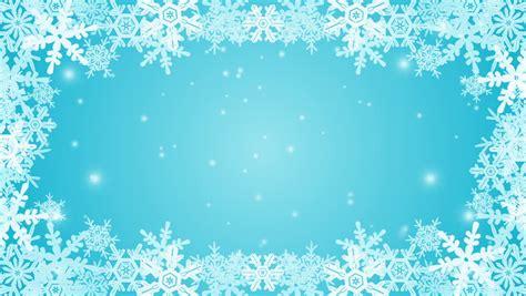 frozen snowflake frame animation blue stock footage video