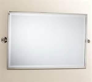 kensington pivot mirror large wide rectangle chrome finish traditional bathroom