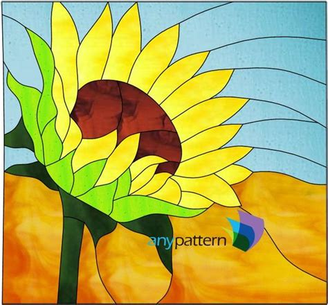 sunflower stained glass pattern anypatterncom