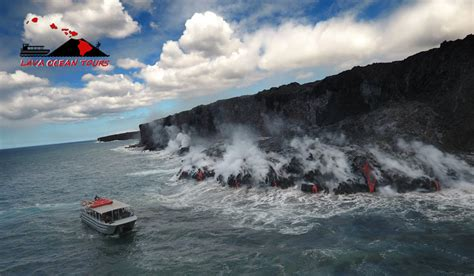 Lava Boat Tours On The Big Island by Hawaii Lava Tours Big Island Tours To See Lava In Hawaii
