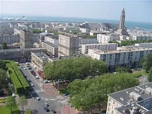 Piscine Le Havre : le havre vu de la tour de l 39 h tel de ville vers l 39 ouest ~ Nature-et-papiers.com Idées de Décoration