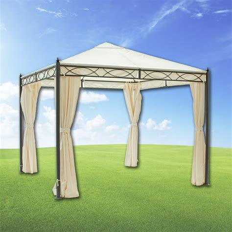 arredo giardino gazebo gazebo formia 3x3 mt con tende lateral mondobrico
