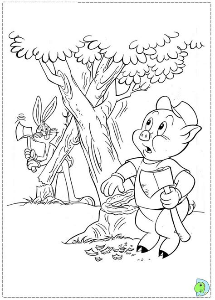 Porky Pig Coloring page DinoKids org
