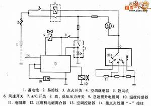 Great Wall Pick Up Car Air Conditioning System Control Circuit Diagram