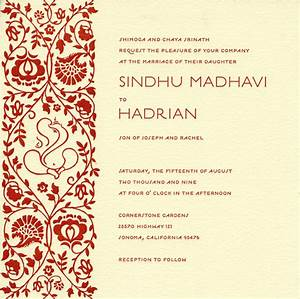wedding invitation wording online hindu wedding With hindu wedding invitations free samples