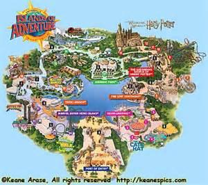 2017 Island Adventure Map Universal Studios Orlando