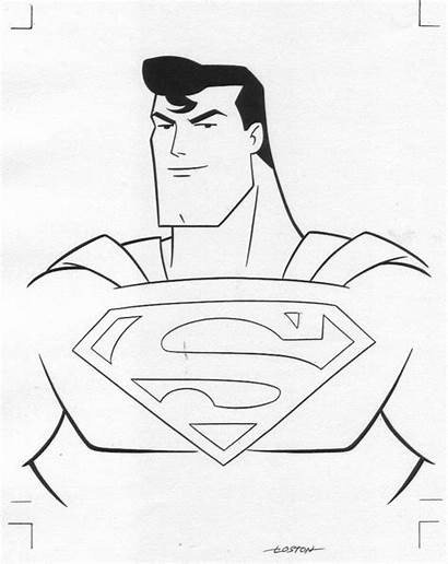 Superman Coloring Drawing Easy Cartoon Cool Colouring