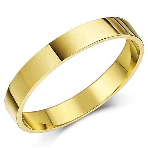 ct yellow gold flat shaped wedding ring flat shape