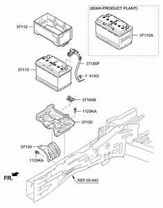 2017 Hyundai Santa Fe Sport Battery  U0026 Cable