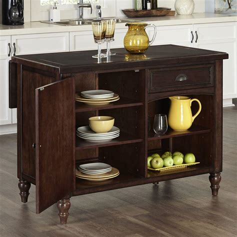 home styles grand torino black kitchen island  storage