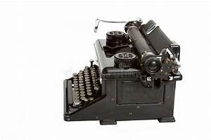 Vintage Black Manual Typewriter Stock Photos