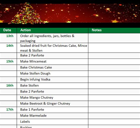 holiday checklist template  excel templates