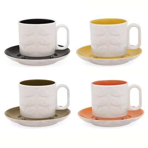 3038 espresso coffee cup set buy orla kiely raised stem espresso cup assorted set of