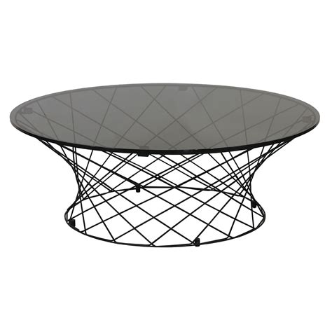 Argo furniture modern beige round side table, white coffee table, tea table and wine trolley, 19.7 x 19.7 x 19.3 inches (dark grey legs). Modern Round 40 Inch Glass Top Coffee Table, Gray ...