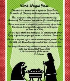 Free Printable Christmas Poems About Jesus