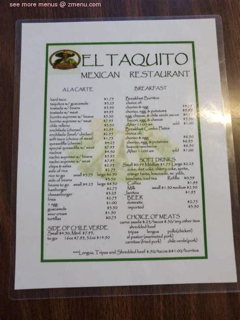 menu  el taquito restaurant bakersfield
