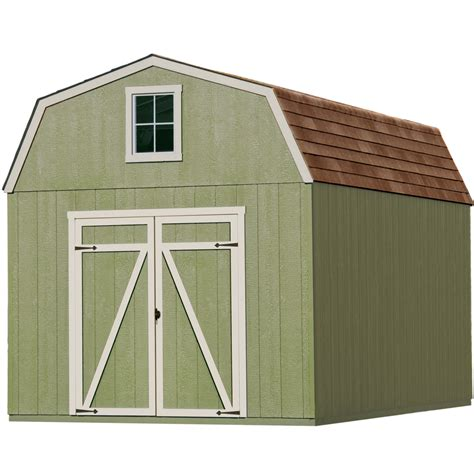 heartland storage shed kits shop heartland common 10 ft x 16 ft interior dimensions