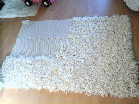 how to make a rug diy anti slip shaggy rug