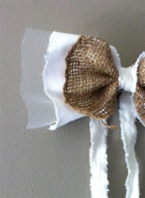 Decoration Noeud Voiture En Coton, Jute Et Tulle Pour