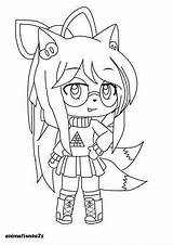 Gacha Coloring Pages Boy Anime Fox Animationsa2z Outfits Angel Eyes Headphones sketch template