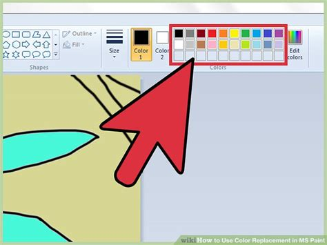 how to use color replacement in ms paint 8 steps with