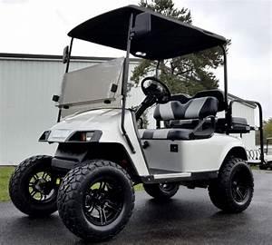 Ez Go Txt Gas Golf Cart Lifted W   Rear Flip  Custom Rims  U0026 Tires