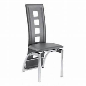 lot de six chaises de salle a manger grise venise achat With salle À manger contemporaineavec chaises grises salle À manger