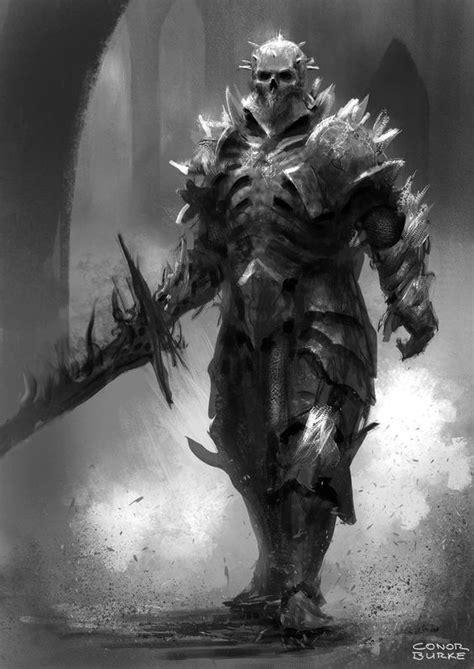 darkwraith knight armor deviantart fantasy death skeleton tire mac dead dark undead concept bone armored walking skullknight medieval character boss