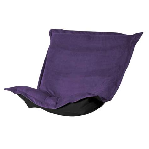 puff chair replacement cover with cushion eggplant