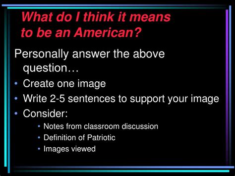 Ppt  What Does It Mean To Be An American? Explorations In. Child Care Experience Resume. Skill Summary Resume. Student Worker Resume. Resume Samples For Customer Service Representative. Resume Format For Engineering Fresher. Fisherman Resume. Special Qualification In Resume. What Kind Of Folder Should I Put My Resume In