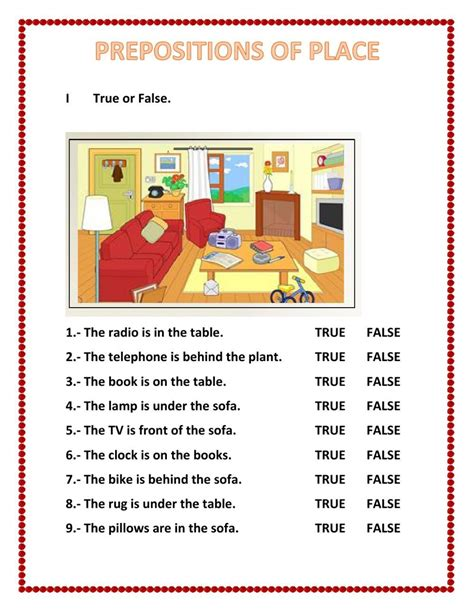 Prepositions Of Place Interactive And Downloadable Worksheet You Can Do The Exercises Online Or
