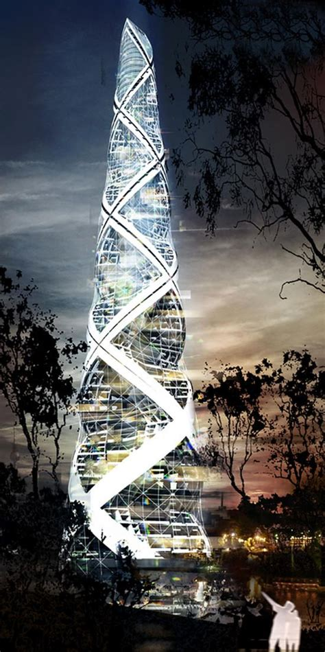 Spiral Tower Berlin Germany Futuristic Architecture