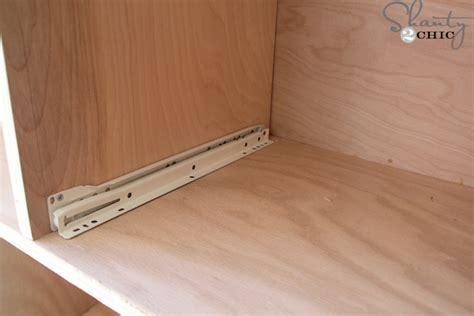 installing drawer slides how to install drawer slides shanty 2 chic