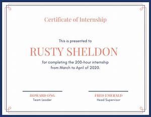 employee recognition certificates customize 44 internship certificate templates online canva