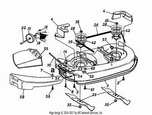 Mtd 13a1674g401  1997  Parts Diagram For Deck Assembly  Blades