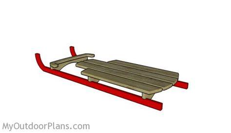 wooden sled plans myoutdoorplans  woodworking
