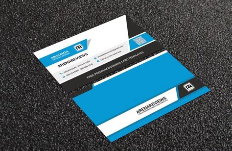 clean business card template free free clean corporate business card template