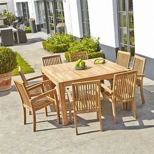 Table En Teck Jardin : salon de jardin en teck barry teckandco ~ Melissatoandfro.com Idées de Décoration